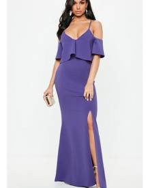 Missguided Strappy Frill Fishtail Maxi Dress