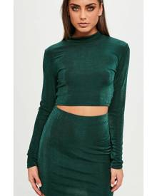 Missguided Slinky Curved Hem Skirt