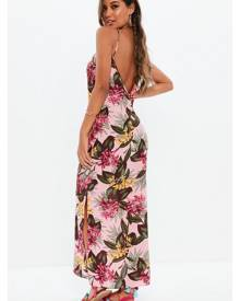 Missguided Floral Cami Strap Maxi Dress