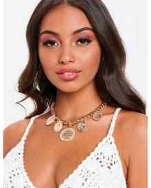 Missguided Chunky Chain Coin Charm Choker