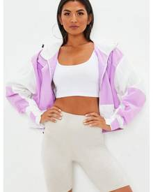 Missguided Oversized Colour Block Windbreaker Jacket