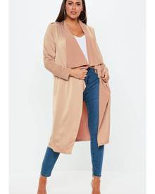 Missguided Size Nude Waterfall Jacket