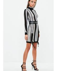 Missguided Striped Bodycon Dress