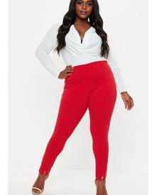 Missguided Size Red Skinny Cigarette Trousers
