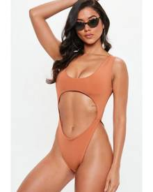 Missguided Underboob Cut Out Swimsuit