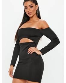 Missguided Bardot Cut Out Mini Dress