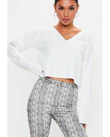 Missguided DROP SHOULDER RIB SWEAT