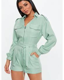 Missguided Utility Belted Playsuit