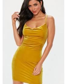 Missguided Velvet Cowl Mini Dress