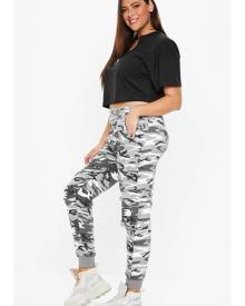 Missguided Size Grey Camo Joggers