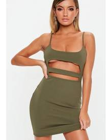 Missguided Strappy Cut Out Mini Dress