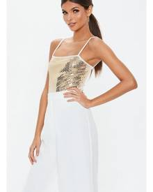 Missguided Square Neck Sequin Bodysuit