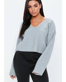 Missguided Boxy Cropped Sweatshirt
