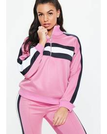 bbcc3f372a Missguided Contrast Panel Zip Through Tracksuit Jacket