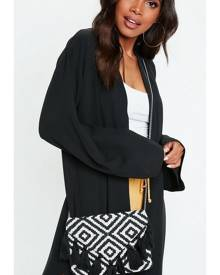Missguided Aztec Tassel Clutch Bag