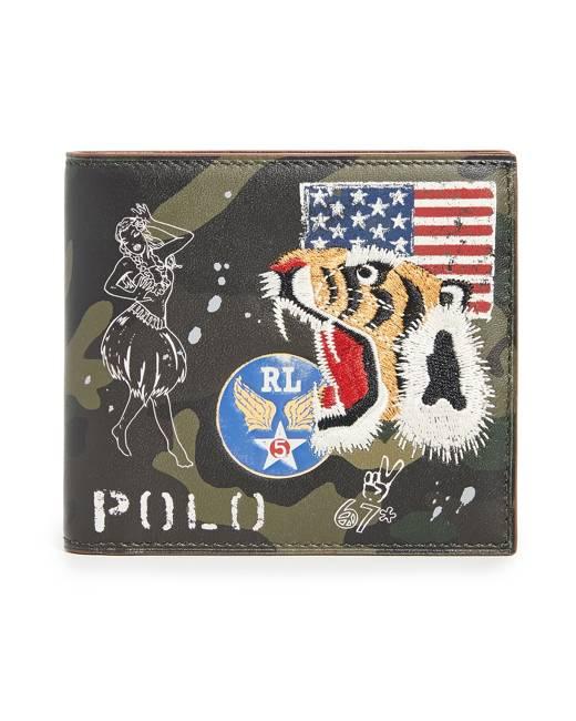 Cena fabryczna pierwsza stawka kupować nowe Military Tiger Bifold Wallet