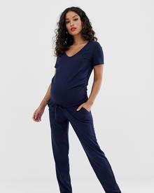 b68270380fc Mama.licious Mamalicious maternity rib jersey jumpsuit - Navy