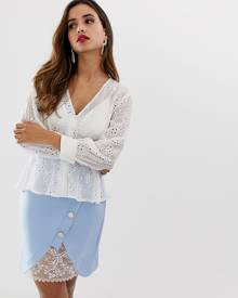 Lipsy broderie anglaise blouse in cream - Cream