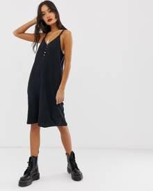 Noisy May button detail cami mini dress - Black