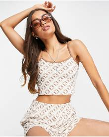 ASOS DESIGN printed tiered textured maxi dress with ruffle detail and lace trim-Multi