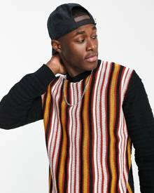 New Look oversized t-shirt with yin yang embroidery in blue