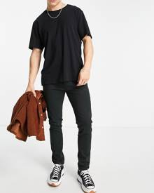 ASOS DESIGN organic tracksuit with hoodie & shorts with side stripe in khaki-Green