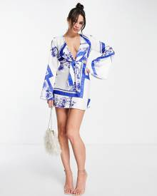 Daisy Street oversized t-shirt with Mickey Mouse graphic in lilac vintage wash-Purple