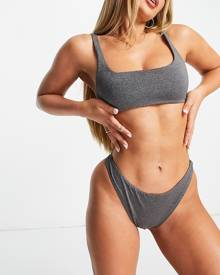 ASOS DESIGN varsity jacket with embroidered faux-leather sleeves-Brown