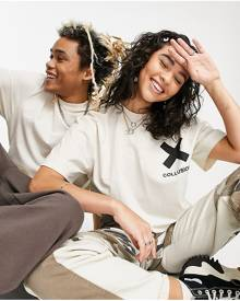 ASOS DESIGN oversized long-sleeved towelling T-shirt in green with Tokyo city embroidery
