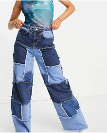 Vintage Supply oversized T-shirt in tie-dye with dance print-Multi