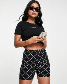 ASOS DESIGN oversized jersey cardigan with all over floral and check print-Multi