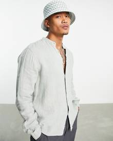 ASOS DESIGN jersey slouchy suit blazer in chocolate gingham-Multi