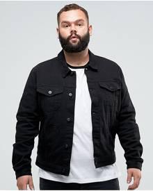ASOS PLUS Skinny Denim Jacket in Black - Black