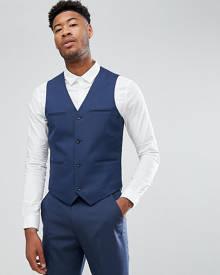 ASOS DESIGN ASOS TALL Slim Suit Waistcoat In Mid Blue - Blue