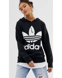 adidas Originals adicolor Trefoil Hoodie In Black - Black