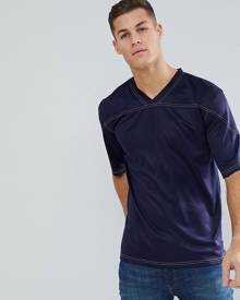 Bellfield T-Shirt In Boxy Fit - Navy