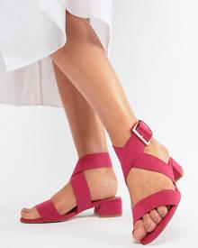 ASOS DESIGN Federal Wide Fit Flat Sandals - Pink