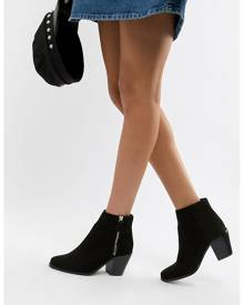 ASOS DESIGN Remedy Zip Ankle Boots - Black