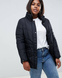Junarose Short Paddded Coat - Black