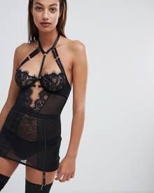 Ann Summers Bonnie Lace Stap Detail Cami Suspender Dress - Black