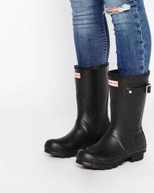 Hunter Original Short Black Boots - Black