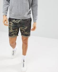ASOS DESIGN ASOS Chino Shorts With Camo Print - Green