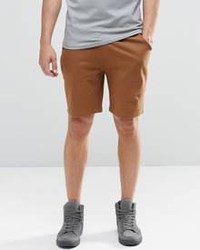 ASOS Jersey Shorts In Brown - Brown
