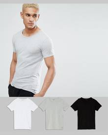 Tommy Hilfiger Stretch Crew Neck T-Shirts In 3 Pack In Regular Fit - Multi