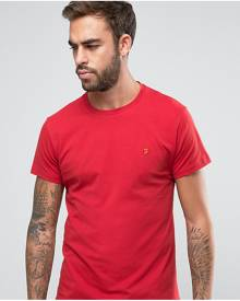 Farah T-Shirt with F Logo Slim Fit Exclusive - Red