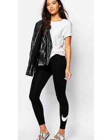 Nike Club Leggings With Swoosh Logo - Black