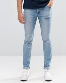 Cheap Monday Tight Jeans Skinny Fit in Stonewash Blue - Blue