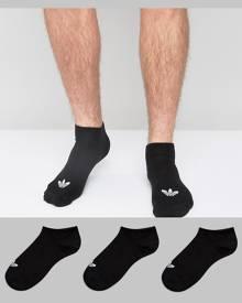 adidas Originals 3 Pack Sneaker Socks In Black S20274 - Black