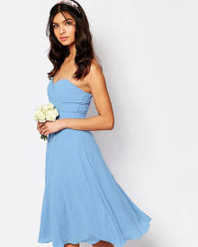 TFNC WEDDING Prom Midi Dress - Blue
