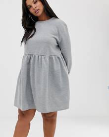b1a762862 Rokoko Plus oversized smock sweat dress - Grey